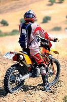 Doing motocross rider