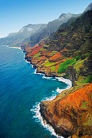 Na Pali coast, Kauai, Hawaii, USA, Pacific Ocean
