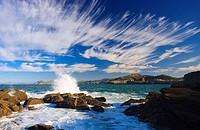Coastal landscape, Castro Urdiales, Cantabria, Northern Spain.