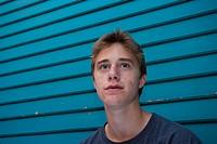 teenage boy with acne