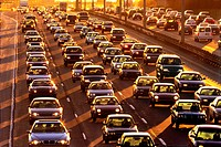North America, Canada ,Ontario, Toronto, traffic on highway
