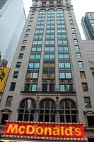 MacDonald's restaurant at 220 West 42nd Street . Theater District,  Manhattan. New York, New York. USA.