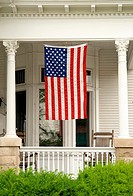 Main Street USA / Victorian House/ porch complete with America flag & rocking chairs
