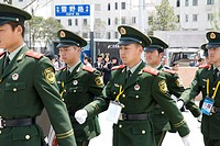 The Shanghai world expo garden of security personnel