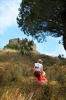 Castle of Begur, Costa Brava. Girona, Spain.