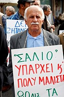 Greek pensioners demonstrate against the economic measures, in the centre of Athens (25/10/2010).