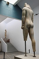 Colossal statue of a Kouros from the Heraion in Samos island Greece