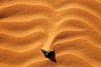Rock in the sand, Sahara Desert, Libya