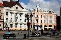 Serbia, Vojvodina, Novi Sad, main square, street scene,