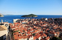 Croatia, Dubrovnik, general aerial view, panorama,