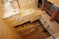 The Grand Staircase  Knossos Palace, Crete, Greece