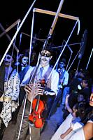 Participants of the All Souls Procession honor the deceased in Tucson, Arizona, USA