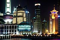 Night scene, Bund, Shanghai, China