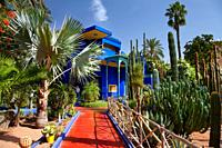 The Jardin de Majorelle gardens in Marrakesh, Morocco