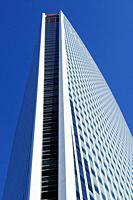 Tower of Société Générale one of the leading financial services companies in Europe, La Défense business district, Paris, France.