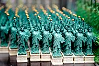 Statues of Liberty displayed in a retail New York City Souvenir Shop