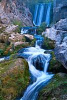 River Guadalquivir, Cerrada del Utrero in the Sierra de Cazorla, Segura y Las Villas. Jaen. Andalusia. Spain. Europe.