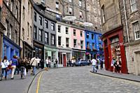 Candlemaker Row Edinburgh, Scotland, United Kingdom, Europe