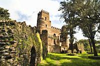 Fasil Ghebbi, fortress like royal enclosure, Gonder, Ethiopia  Emperor Fasiladas Palace, exterior  The fortress – palace royal enclosure of Fasil Gheb...