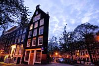 Buildings in Singel area, Amsterdam, Northern Holland, Holland