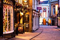 Looking from Stonegate toward Mansion House York Yorkshire UK