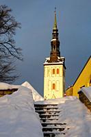 St  Nicholas church in old town  Christmas in Tallin Estonia