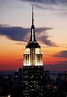 New York City, view from rockefeller center