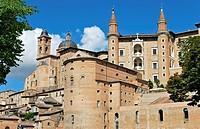 Italy, Urbino, panorama
