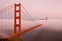 San Francisco, California, Golden Gate Bride from Marin Headlands, USA