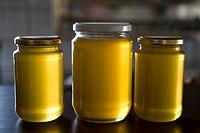 Jars of delicious Cretan, Mediterranean Honey