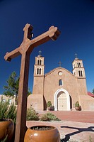 Socorro, New Mexico - The historic San Miguel Mission  The church was built in 1891 on the site of the original 1627 mission