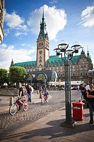 Town Hall square in Hamburg