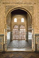 Hall of the Ambassadors Sala de los Embajadores in Alhambra Granada, Spain