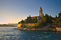 Franciscan Monastery on Lopud island near Dubrovnik Croatia