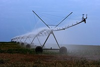 Irrigation, LLeida Province, Spain.