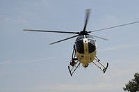 Police helicopter. Edmonston, Maryland, USA.