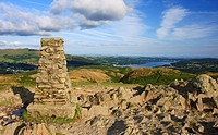 The view overlooking Windermere, from the summit of Loughrigg Fell, Lake District National Park, Cumbria, England