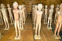 Excavated terracotta exhibits, Han Yang Ling Museum, Zhangjiawan, near Xi'an, Shaanxi Province, China