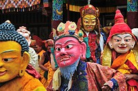 Chaam Musk Dance Festival at Hemis Gompa. Jammu and Kashmir, India