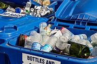 Glass and plasctic recycling bin