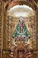 Virgin of la Fuensanta  Interior of La Fuensanta Sanctuary Murcia, South Eastern Spain