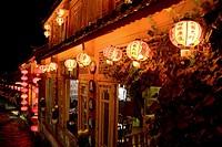 Old town at night in Lijiang, China