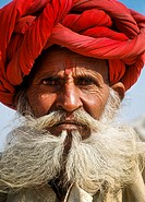 Elderly Indian man with turban