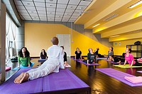 Hatha Yoga school, Chaoyang District, Beijing, China, Asia  PR