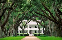 Rosedown plantation antebellum mansion house near the town of Francisville, Louisiana, USA