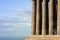 National Monument on Calton Hill in Edinburgh is memorial to Scots lost in Napoleonic Wars  Scotland  UK