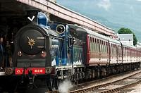 Steam Locamotive at Aviemore Station,Scotland