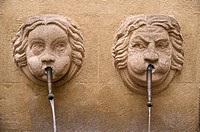 Bagniers Fountain with 2 faces Old Aix Aix en Provence 13 France