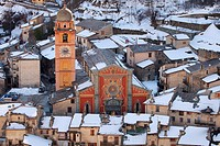 The village of Tende and La Collegiale Vallee de la Roya Alpes-MAritimes 06 PACA FRance Europe