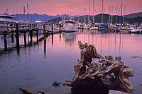 Gibsons Harbour in evening, Sunshine Coast, British Columbia, Canada
